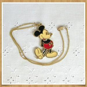 Disney Mickey Mouse Necklace Enamel Pendant